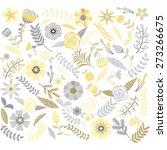 wedding floral  pattern set | Shutterstock .eps vector #273266675