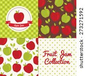 homemade apple jam collection.... | Shutterstock .eps vector #273271592