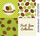 homemade kiwi jam collection.... | Shutterstock .eps vector #273271598