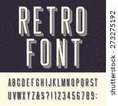 retro alphabet vector font.... | Shutterstock .eps vector #273275192