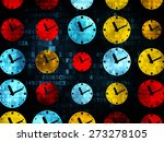 time concept  pixelated... | Shutterstock . vector #273278105
