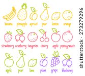 vector set flat icons of a... | Shutterstock .eps vector #273279296