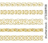 seamless floral tiling borders. ... | Shutterstock .eps vector #273288908