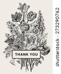 vintage floral card. victorian... | Shutterstock .eps vector #273290762