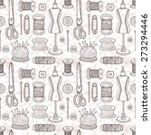 vector seamless pattern with... | Shutterstock .eps vector #273294446