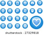 circle blue icons | Shutterstock .eps vector #27329818