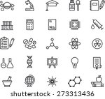 science outlined icon set | Shutterstock .eps vector #273313436