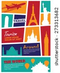 travel landmark background... | Shutterstock .eps vector #273313682