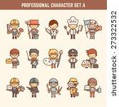 professional character set | Shutterstock .eps vector #273322532