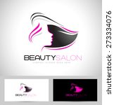 beauty female face logo design... | Shutterstock .eps vector #273334076