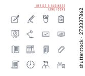 office and business line icons | Shutterstock .eps vector #273337862