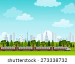 railroad and train rides.... | Shutterstock .eps vector #273338732