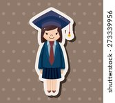 graduate student   cartoon... | Shutterstock . vector #273339956