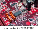 red computer motherboard with... | Shutterstock . vector #273347405