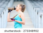 portrait of healthy fitness... | Shutterstock . vector #273348902