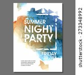 summer night party vector flyer ... | Shutterstock .eps vector #273348992