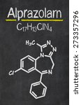 Small photo of Blackboard with the chemical formula of Alprazolam