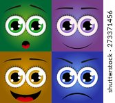 image of emotions  a set of... | Shutterstock .eps vector #273371456