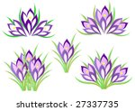a set of spring crocuses for... | Shutterstock .eps vector #27337735