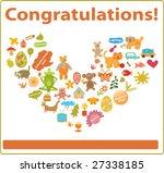 congratulations card | Shutterstock .eps vector #27338185
