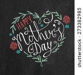 vintage happy mother's day... | Shutterstock .eps vector #273382985