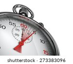 stopwatch with red second hand  ... | Shutterstock . vector #273383096