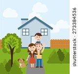 happy family design  vector...   Shutterstock .eps vector #273384536