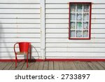 Typical Beach House With Red...