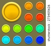 modern colorful circle button...