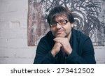 closeup of painter artist... | Shutterstock . vector #273412502