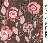 abstract flower seamless... | Shutterstock .eps vector #273417326