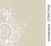 white flower design  lace... | Shutterstock .eps vector #273417416