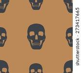 background with skulls | Shutterstock .eps vector #273417665