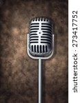 retro microphone on brown... | Shutterstock . vector #273417752