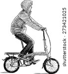 young urban cyclist   Shutterstock .eps vector #273421025