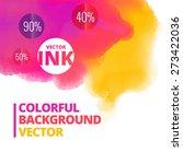 ink splash colors vector... | Shutterstock .eps vector #273422036