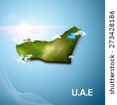 realistic 3d map of united arab ... | Shutterstock . vector #273428186
