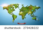 realistic 3d world map | Shutterstock . vector #273428222
