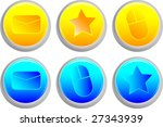 isolated bright colored button... | Shutterstock .eps vector #27343939