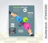 flat style business... | Shutterstock .eps vector #273443282