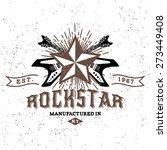 monochrome hipster vintage...   Shutterstock .eps vector #273449408