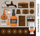 distillery production objects... | Shutterstock .eps vector #273450125