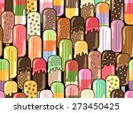 ice cream vector illustration.... | Shutterstock .eps vector #273450425