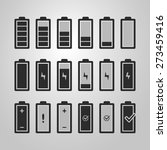 black and white battery icon... | Shutterstock .eps vector #273459416