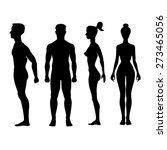 collection of silhouettes of... | Shutterstock .eps vector #273465056