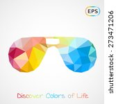 unusual trendy poly aviator... | Shutterstock .eps vector #273471206