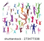 jumping people | Shutterstock .eps vector #273477338
