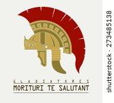 gladiator helmet  logo  ancient ...   Shutterstock .eps vector #273485138