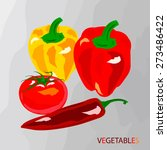 peppers vector illustration.... | Shutterstock .eps vector #273486422