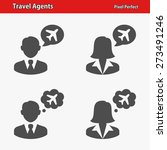 travel agents icons.... | Shutterstock .eps vector #273491246